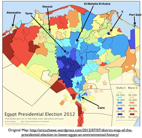 pattern geography exles the core periphery pattern in egyptian electoral geography