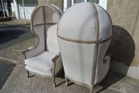 french canopy chair pair of french white linen canopy hood bishops chairs at
