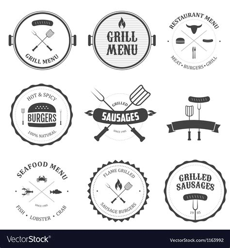 vintage menu design elements vector set restaurant menu vintage design elements set vector image