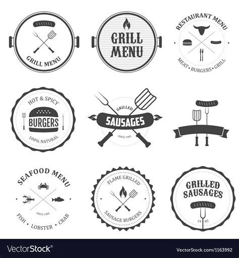 vintage menu design elements vector restaurant menu vintage design elements set vector image