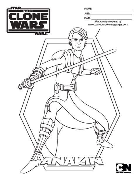 free coloring pages of star wars anakin
