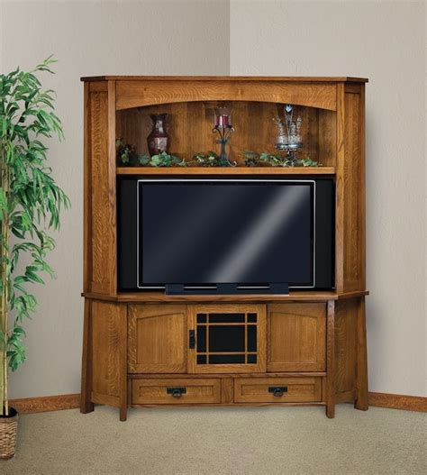 corner entertainment cabinet amish corner entertainment center solid oak wood media
