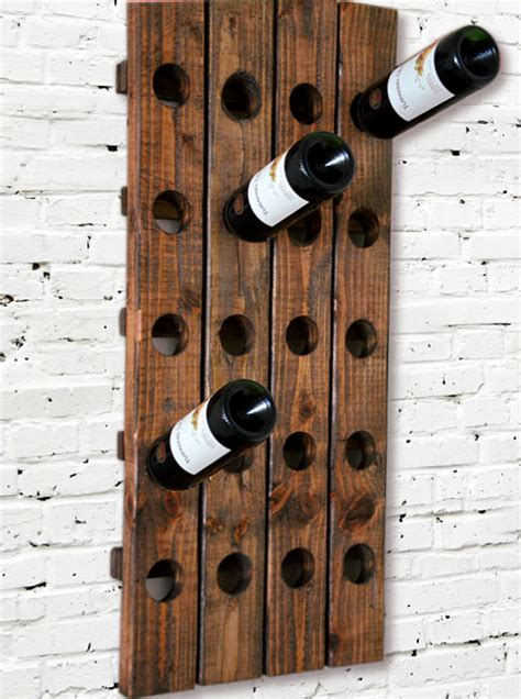 Wood Wall Mounted Wine Rack by Wine Rack Riddling Rack Wood Wall Hanging By