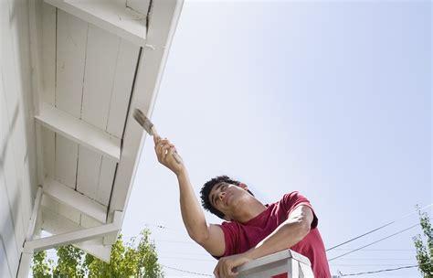 exterior paint   spraying  brushing