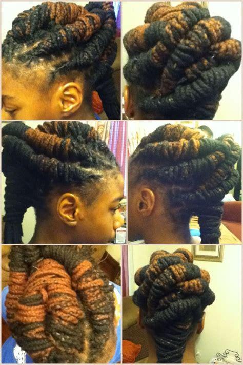 lock twist styles hair product yarn braids braid style creations pinterest yarn