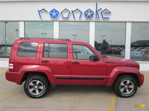red jeep liberty 2008 2008 jeep liberty sport 4x4 in inferno red crystal pearl