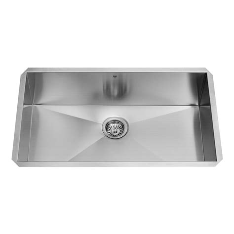 Single Basin Stainless Steel Undermount Kitchen Sink Vigo Undermount Stainless Steel 32 In Single Bowl Kitchen Sink Vg3219c The Home Depot
