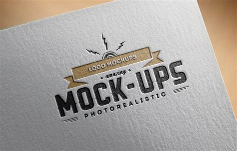 logo mockup psd template logo mock up paper edition 1 punedesign
