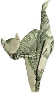 Origami Dollar Cat - anyone change for a dollar dynamic dollar