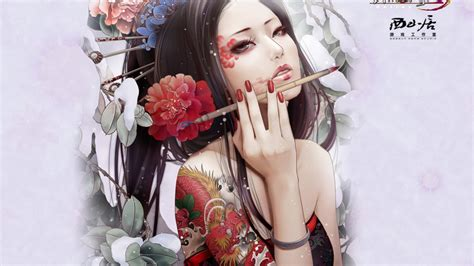 geisha tattoo wallpaper figure girls in the japanese style wallpapers and images