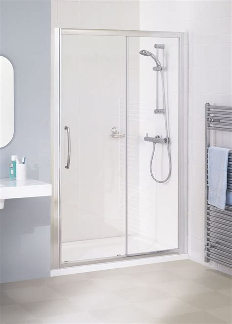 Frameless Sliding Shower Doors by Lakes 1800mm Semi Frameless Sliding Shower Door