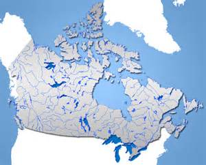 map of canada lakes and rivers