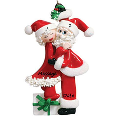 santa ornament buy santa mistletoe kisses personalized ornament