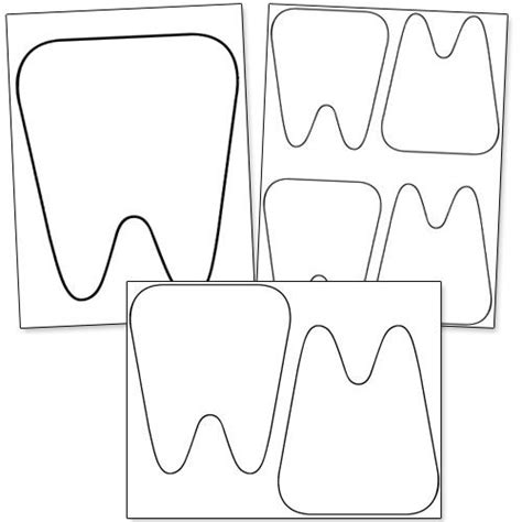 template of a tooth free printable tooth template from printabletreats