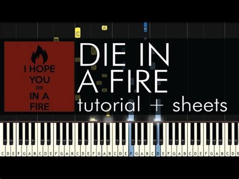 tutorial piano i see fire the living tombstone die in a fire piano tutorial