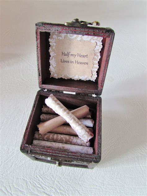 sympathy gift bereavement gift grief gift memory scroll box