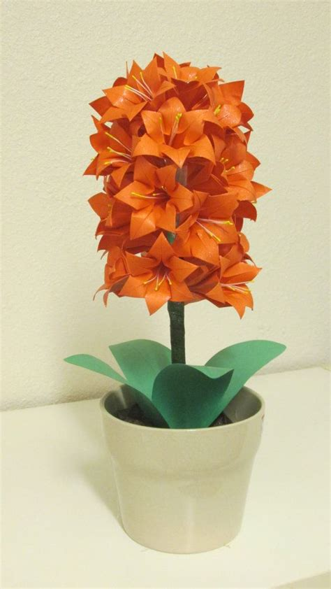 Origami Hyacinth - hyacinth flower centerpiece origami flower design