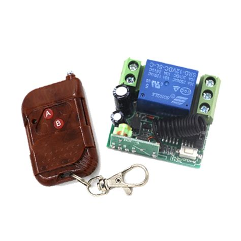 1 Set Wirelles Remote Kit Transmitter Receiver 1 set dc 12v 1ch rf wireless remote switch system with 315 433 mhz transmitter and