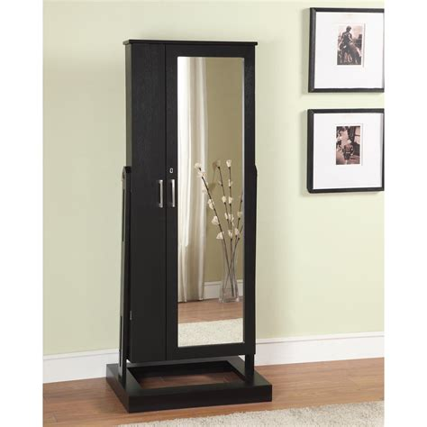black standing mirror jewelry armoire contemporary black cheval mirror jewelry armoire jewelry