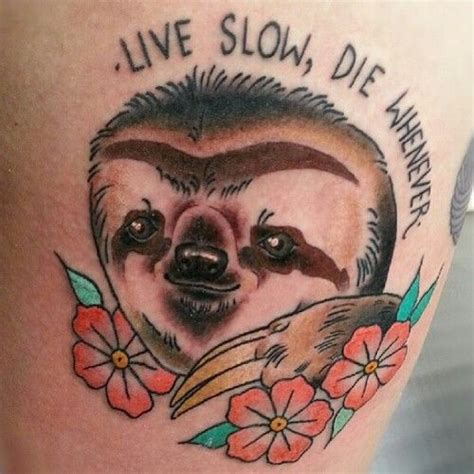 philosophical sloth tattoo neatorama