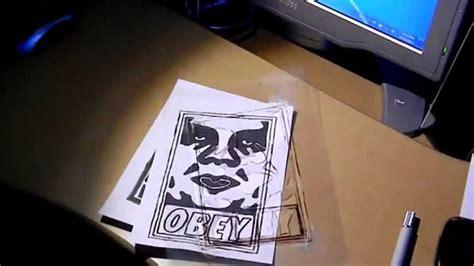 obey stencil art  youtube