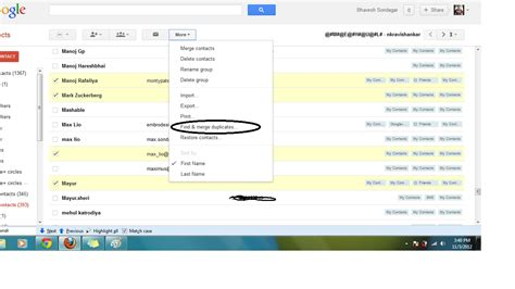 Find On Gmail How To Find Merge Duplicate Contacts On Account