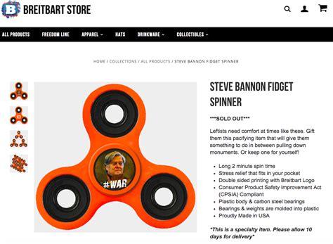 Steve Bannon Criminal Record Breitbart Sells Out Of Steve Bannon Fidget Spinner In Days Sfgate