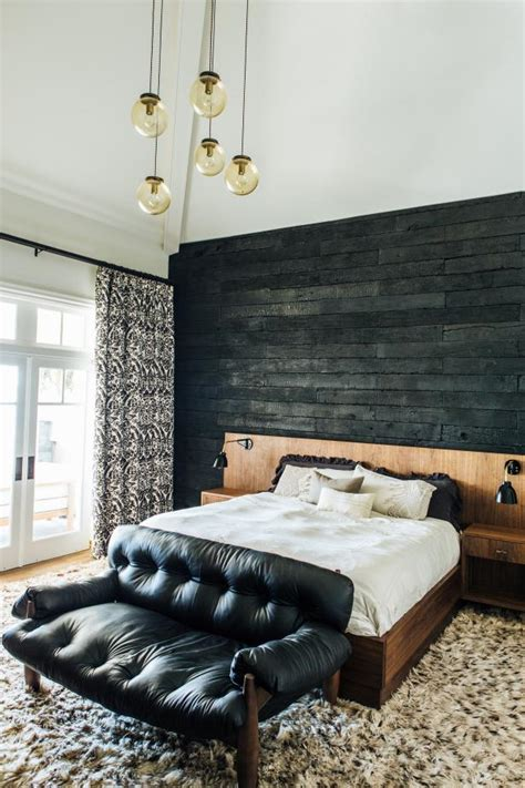 are accent walls out of style 2017 master suite with charred accent wall wood patterned