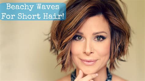 how to get beach waves for short hair with no heat beachy waves for short hair youtube
