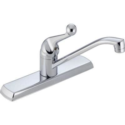 Home Depot Delta Kitchen Faucets Delta Classic Single Handle Standard Kitchen Faucet In Chrome 120lf The Home Depot
