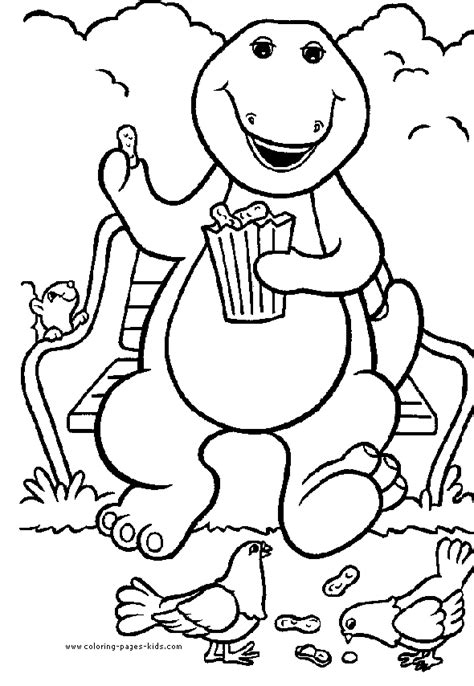 barney birthday coloring page barney birthday coloring pages coloring home