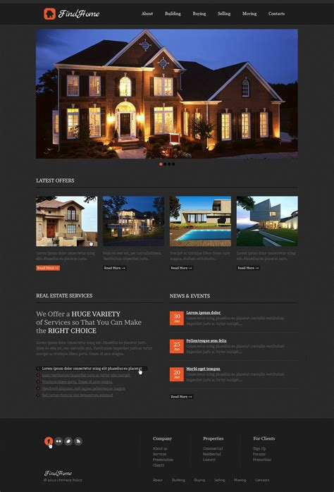Real Estate Agency Website Template 39509 Website Templates For Real Estate Agents Free