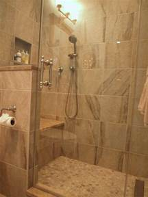 bathroom stand up shower designs standup shower with river rock floor traditional