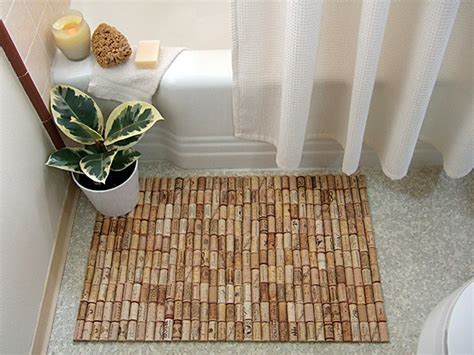 cork bath mats bathrooms wine cork bath mat