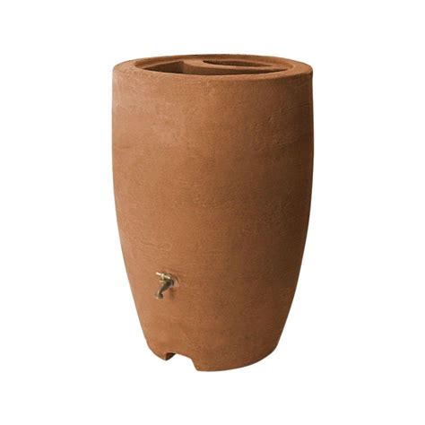 algreen athena 50 gal terracotta barrel 86002 the