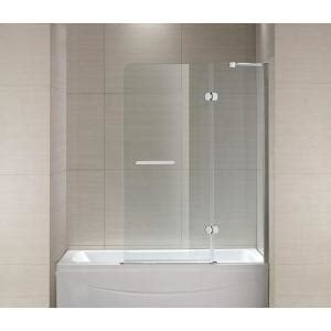 Schon Bathtubs by Schon 40 In X 55 In Semi Framed Hinge Tub And Shower
