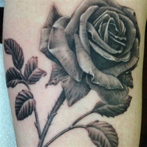 black rose with thorns tattoo tat tat tatted up