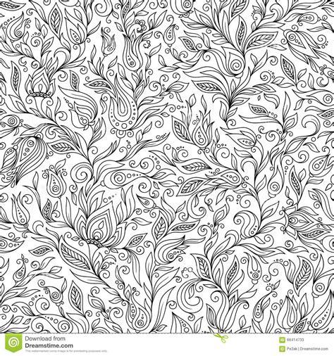 pattern  coloring book floral doodle design