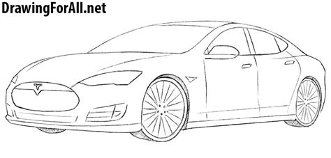 How To Draw A Blueprint tesla model x blueprint sketch coloring page
