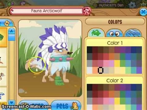 Ket White Sleret Colours colors on animal jam