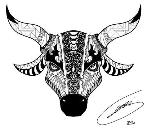 bull tattoo design by stevangois on deviantart