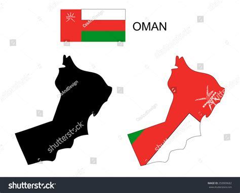 oman map vector oman map and flag vector oman map oman flag 259909682