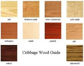 guide to cribbage board wood types