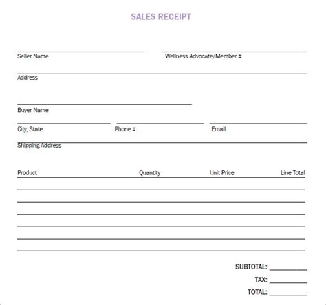 sales receipt template pdf 8 sales receipt templates word excel pdf formats