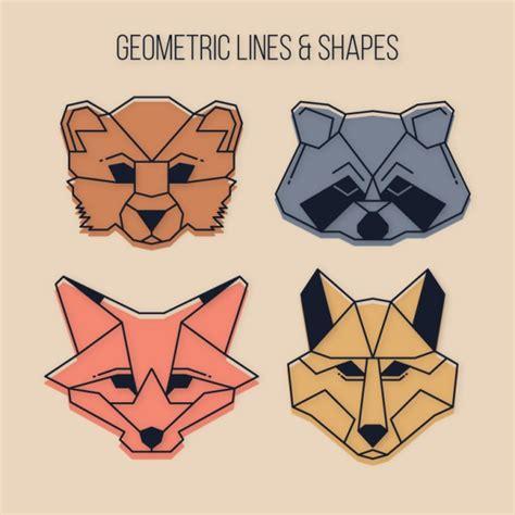 imagenes animales geometricos animales salvajes geom 233 tricos con l 237 neas descargar