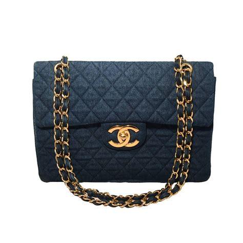 Chanel Shoulder Pouch Bag by Chanel Quilted Denim Maxi Flap Shoulder Bag At 1stdibs