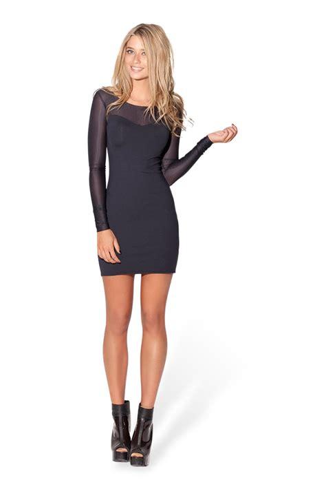 sheer sleeve dress sheer top sleeve matte dress black milk clothing