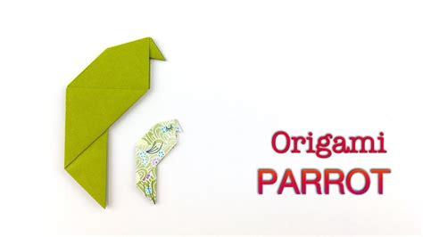 Origami Parrot - how to fold a parrot origami parrot origami bird