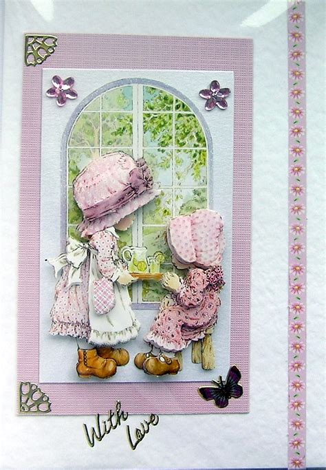 Decoupage Cards - afternoon tea crafted 3d decoupage card with