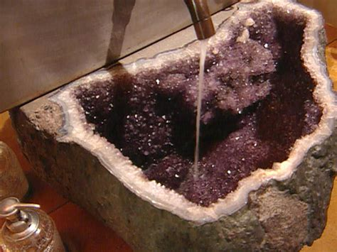 Geode Countertops by Powder Room